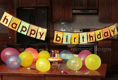 Picture of Happy Birthday Banner Pattern